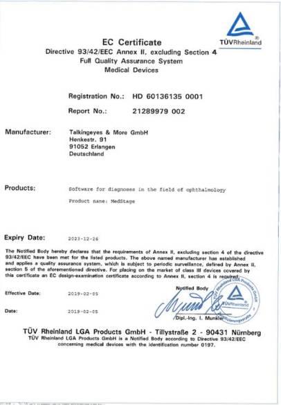 MedStage IIa Certificate english