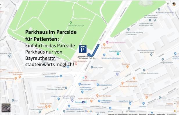 Parkhaus Parkside Zufahrt